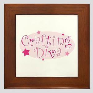 """""""Crafting Diva"""" [pink] Framed Tile"""